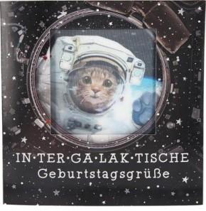 Geburtstagskarte Klappkarte 3D mit Musik & Licht Intergalaktische Geburtstagsgrüße