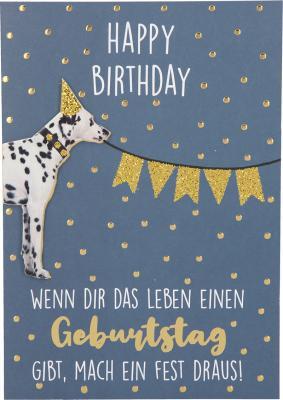 Depesche Klappkarten Bitte Laecheln - Happy Birthday Wenn dir das Leben...