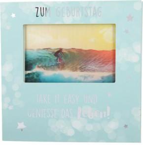 Geburtstagskarte Klappkarte 3D mit Musik & Licht Zum Geburtstag take it easy und geniesse