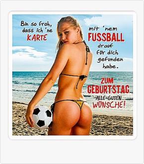 Depesche 3D Klappkarte 024c Motiv mit Fussball
