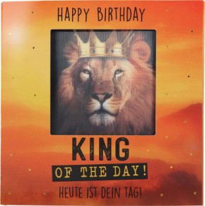 Geburtstagskarte Klappkarte 3D mit Musik & Licht Happy Birthday King of the day!...