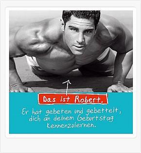 Depesche 3D Klappkarte 026c zum Geburtstag Motiv Robert