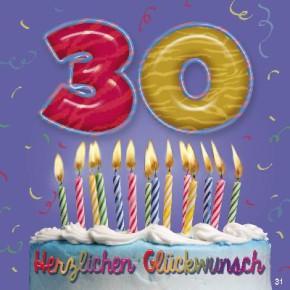Geburtstagsteelicht in kleiner Box Happy Birthday (Girlande)