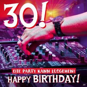 Geburtstagskarte mit Musik 3868-031f Die Party kann losgehen! Happy... Du bist ein Hit! Dreh heute mal richtig auf!