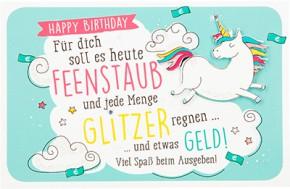 Klappkarte für Geldgeschenke 2239-031B Happy Birthday