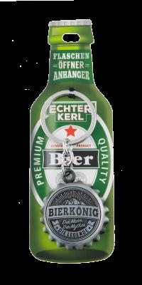 Echter Kerl Flaschenöffner Anhänger - Bierkönig