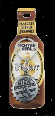 Echter Kerl Flaschenöffner Anhänger - Kaltes Bier