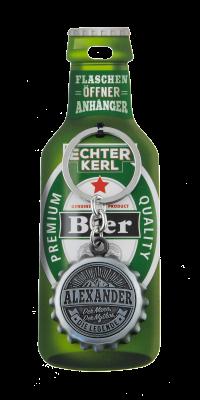 Echter Kerl Flaschenöffner Anhänger - Alexander