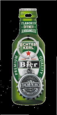 Echter Kerl Flaschenöffner Anhänger - Benjamin