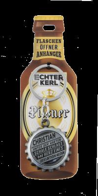 Echter Kerl Flaschenöffner Anhänger - Christian