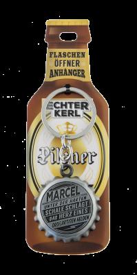 Echter Kerl Flaschenöffner Anhänger - Marcel