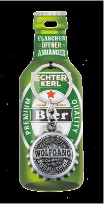 Echter Kerl Flaschenöffner Anhänger - Wolfgang