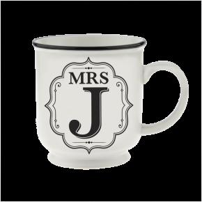 H&H Becher Mrs J - für Hochzeit, Jubiläum und Jahrestag