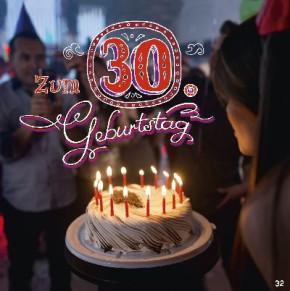 Geburtstagskarte mit Musik 3868-032e  Zum 30. Geburtstag ,Die besten Wünsche,Tage wie diese sollten besonders gefeiert werden!