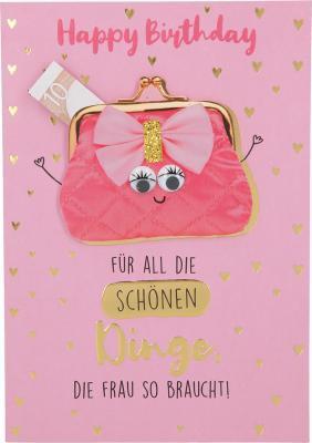 Depesche Klappkarten Bitte Laecheln - Happy Birthday Für all die schönen Dinge