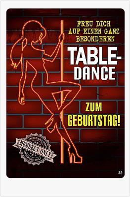 Musikkarten mit Überraschung 032C Table-Dance