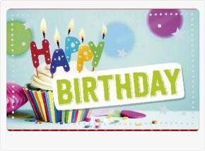 Geburtstagsteelicht in kleiner Box Happy Birthday