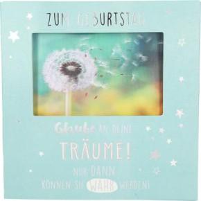 Geburtstagskarte Klappkarte 3D mit Musik & Licht Zum Geburtstag Glaube an deine Träume!..