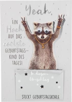 Depesche Klappkarten Bitte Laecheln - Yeah, ein Hoch auf das coolste Geburts..