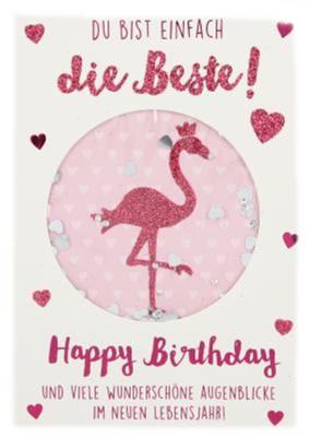 100% Glitzer Geburtstagskarte Anlasskarte Klappkarte10496-041
