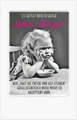 Postkarten mit Sprüchen Undercover 041D Guten Morgen