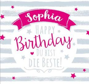 Geburtstagskerze mit Namen Sophia