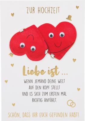 Depesche Klappkarten Bitte Laecheln - Zur Hochzeit Liebe ist... wenn jemand...