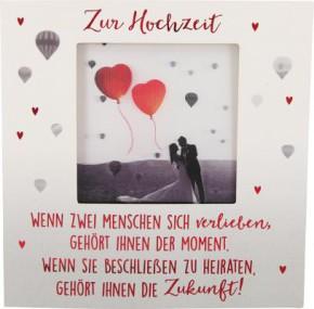 Hochzeitskarte Klappkarte 3D mit Musik & Licht Zur Hochzeit Wenn zwei Menschen sich...