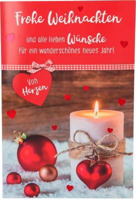 Weihnachtskarten mit Musik und Licht - Frohe Weihnachten und alle lieben...