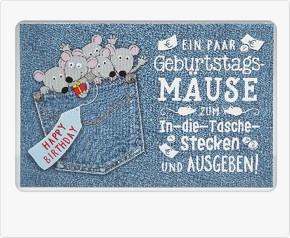 Klappkarte für Geldgeschenke 2239-048B Ein paar Geburtstagsmäuse