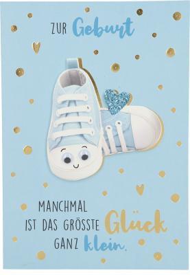 Depesche Klappkarten Bitte Laecheln - Zur Geburt Manchmal ist das größte...