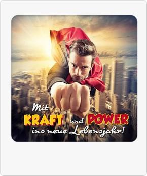 Depesche 3D Klappkarte 050C Mit Kraft und Power ins neue Lebensjahr