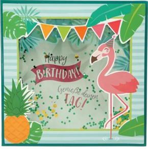 Konfetticards Klappkarten mit Konfetti 051 Happy Birthday! Genieße deinen Tag!
