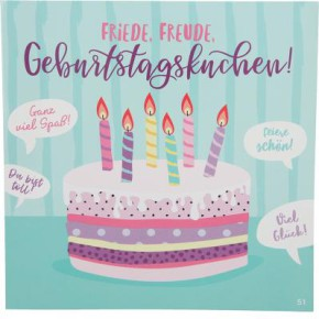 Geburtstagskarte mit Musik 3868-051F Friede, Freude, Eierkuchen!...