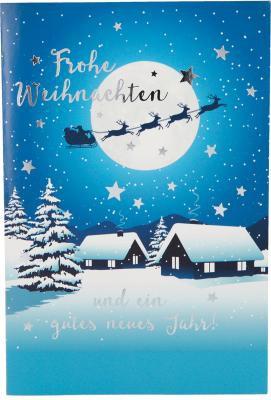 Weihnachtskarten mit Musik und Licht - Frohe Weihnachten und ein gutes...