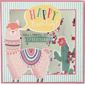 Konfetticards Klappkarten mit Konfetti 056 Happy Birthday! Alles Liebe für dein...