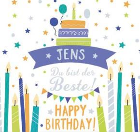 Geburtstagskerze mit Namen Jens