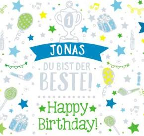 Geburtstagskerze mit Namen Jonas