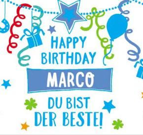 Geburtstagskerze mit Namen Marco