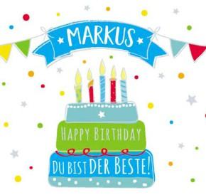 Geburtstagskerze mit Namen Markus