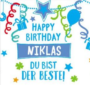Geburtstagskerze mit Namen Niklas