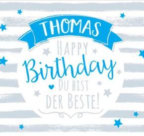 Geburtstagskerze mit Namen Thorsten