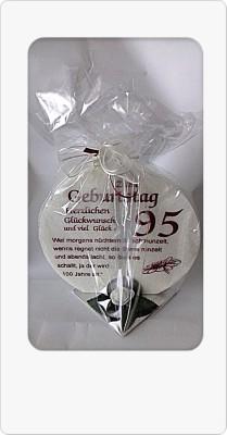Geschenk Kerze 95 zum 95. Geburtstag