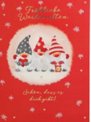 Lustige Weihnachtskarte Klappkarte Fröhliche Weihnachten Schön, dass es ...