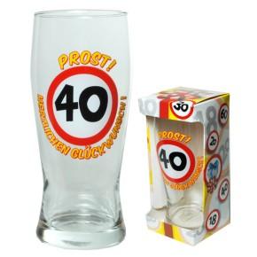 Bierglas Prost zum 40. Geburtstag 67392