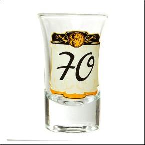 Schnapsglas zum 70. Geburtstag