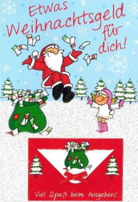 Fröhliche Weihnachtsgrüße Klappkarten 8622-006 Etwas Weihnachtsgeld für dich! Viel...