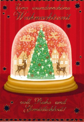 Fröhliche Weihnachtsgrüße Klappkarten 8622-049 Eine wunderschöne Weihnachtszeit voll ..