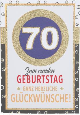 Originelle Klappkarte mit Zahlen Geburtstagskarte zum 70.Geburtstag