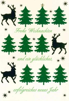 Fröhliche Weihnachtsgrüße Klappkarten 8622-054 Frohe Weihnachten und ein glückliches...